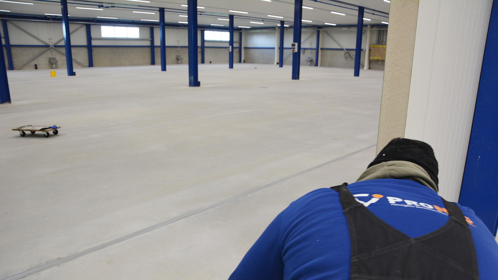stralen beton vloer voorbehandeling