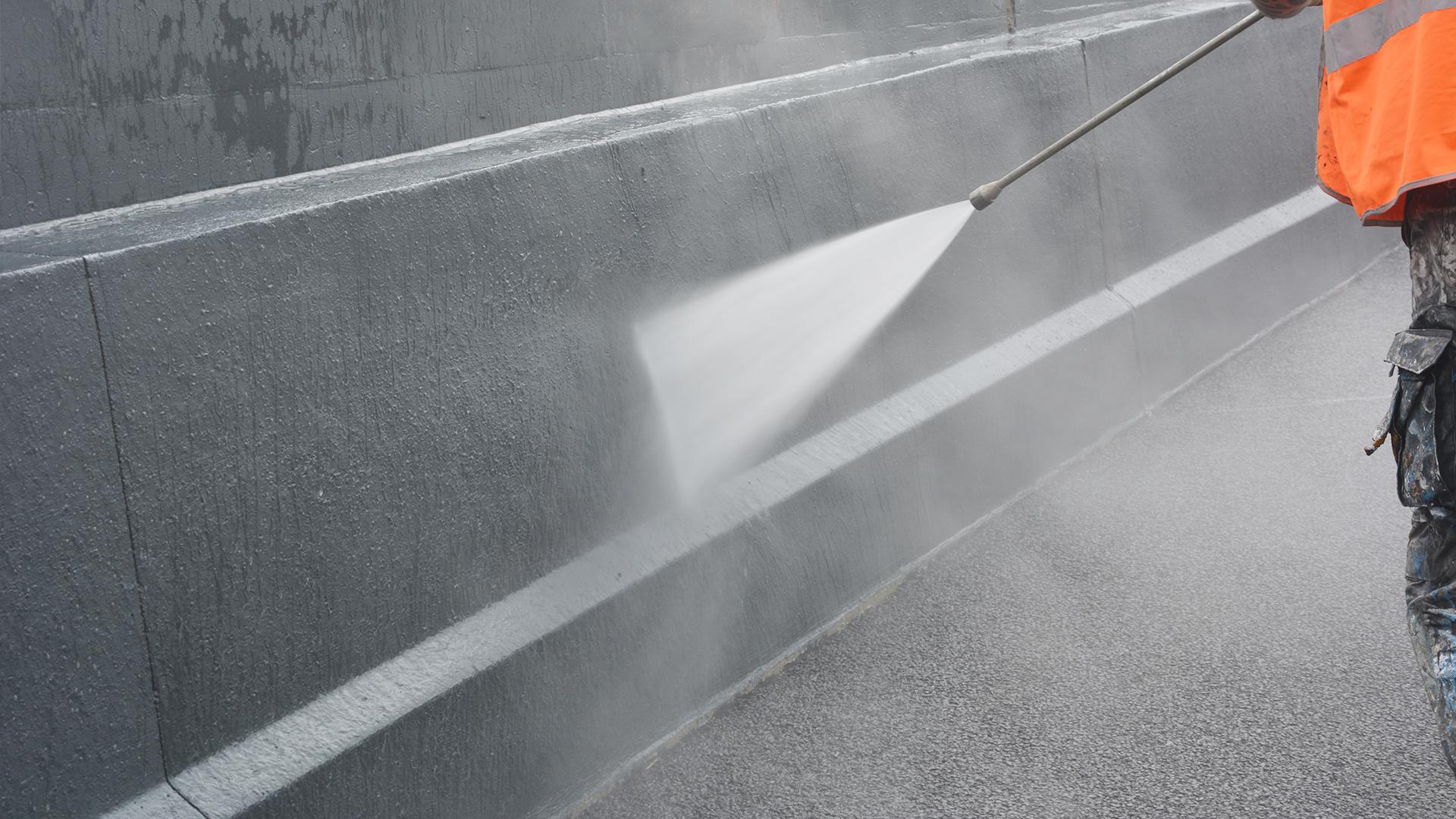 Hogedruk reinigen beton constructie