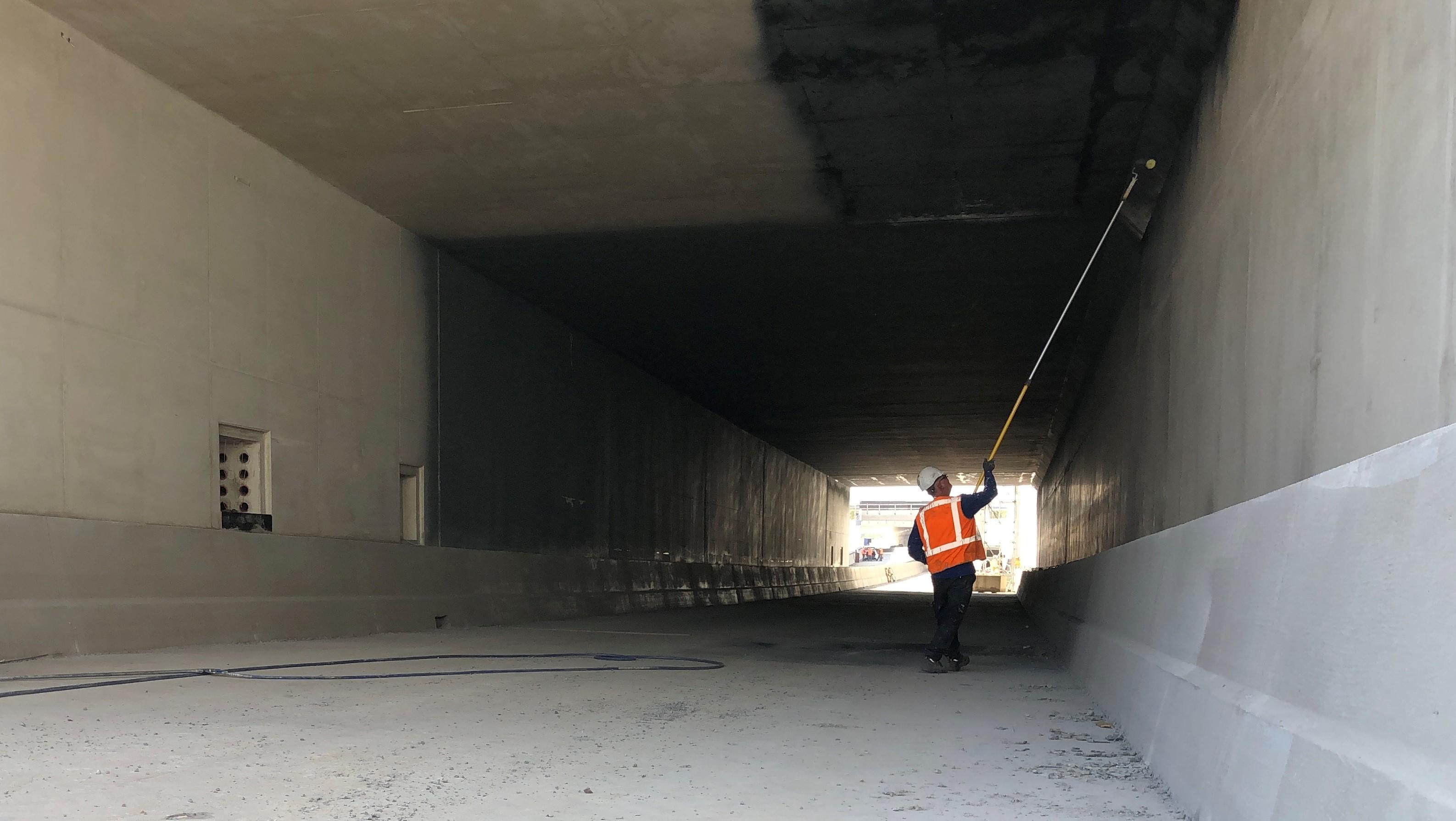 Brandwerende verf beton tunnel