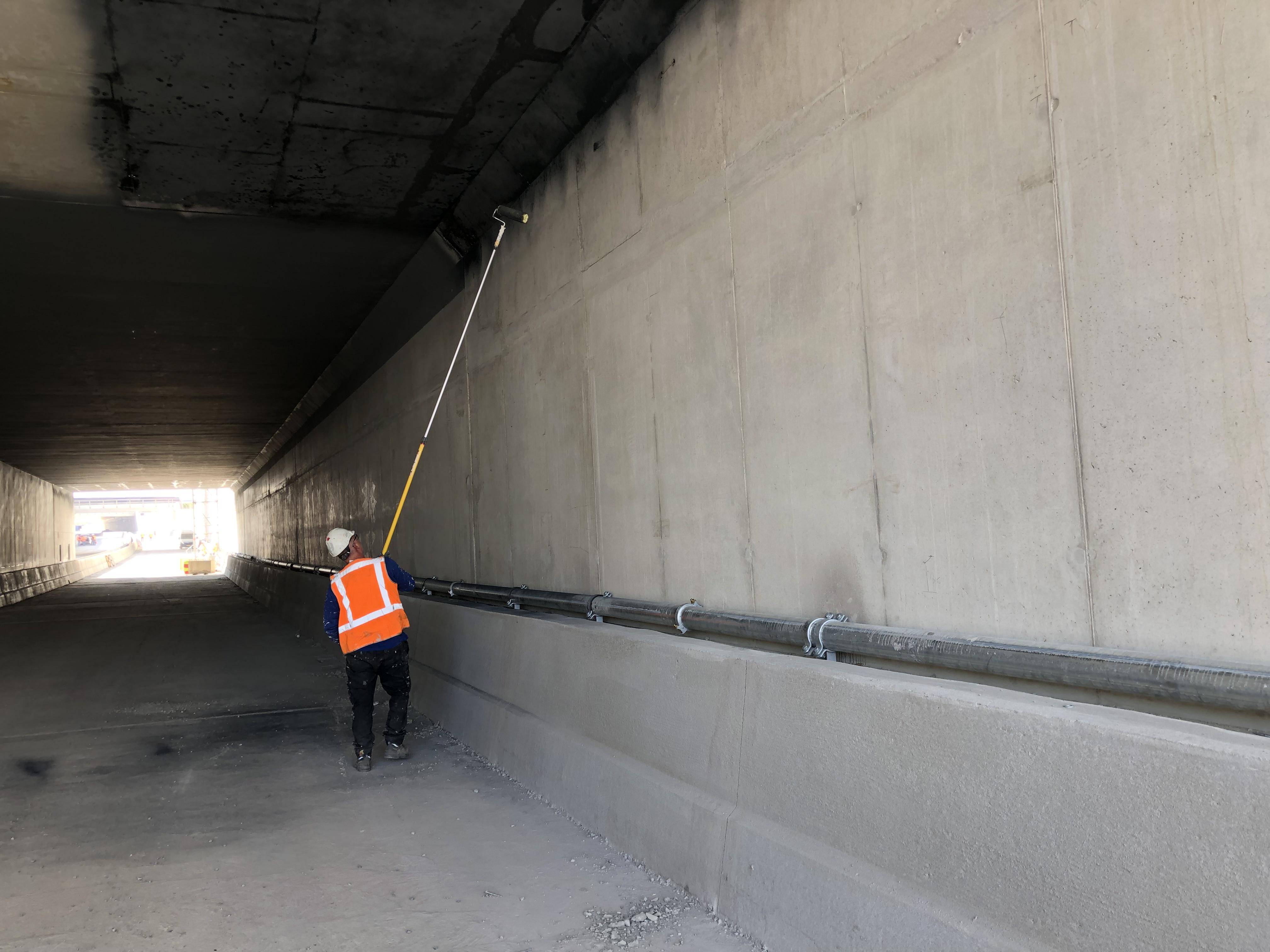 Brandwerende coating tunnel